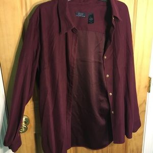 Tops - Deep red button up